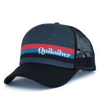 Quiksilver Trucker Hat Mens Baseball Mesh Snapback Cap Skateboard Surf Summer
