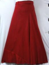 Women Wrap around Long Skirt Rayon Traditional Boho Wrap Dress Free Size D Red