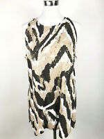 Zenergy By Chico's Womens 2 Large Animal Print Embellished Cotton Modal Tank Top