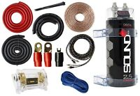 0 Gauge Amp Kit Amplifier Install Wiring & 2.5 Farad Digital Capacitor, 5500W