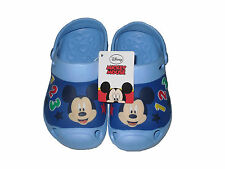 Boys Crocs Cloggs Disney Mickey Mouse Blue
