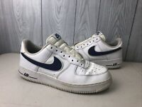 Nike Air Force One 1 Low Top White University Royal Blue Size 9 2018 A02423