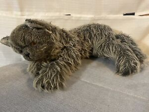 Vintage 1984 Applause Gray Furry Cat Plush Stuffed Animal Rare 24 Inch