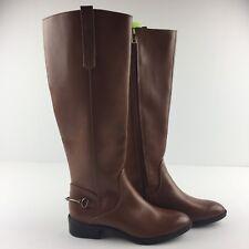 Sam & Libby Perry Women Size 6 Brown Cognac Riding Boots Zipper Tall