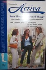 Activa Sheer Therapy Lite Support Compression 15-20 mmHg Knee High Nude D H2304