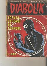 DIABOLIK - N.15 - TRENTA SECONDI DI TERRORE  - ANNO X
