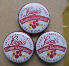 3 CRANBERRY GINGER SHANDYLEINENKUGAL'S MICRO NO DENT OBSOLETE BEER BOTTLE CAPS