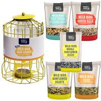 Wild bird squirrel guard seed feeder & feed high energy combo deals