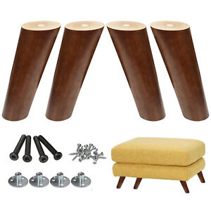 6inch Angled Wood Furniture Legs Tapered Couch Leg for Cabinet Dresser 4pcs