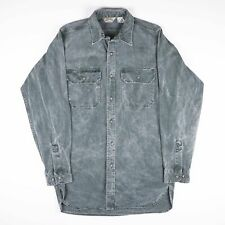 Vintage CABELA'S Green Denim Shirt Size Mens Large