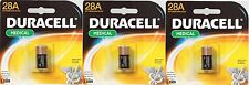 3 DURACELL 28A 6V Alkaline Battery Medical Electronics Photo Garage Door Collar