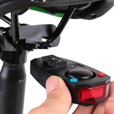 BIKE INTELLIGENT BICYCLE TAIL LIGHT ALARM WARNING BELL W/WIRELESS REMOTE DL H8D0