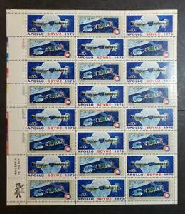 US SCOTT 1569-1570 - APOLLO SOYUZ SPACE TEST 10c - MINT Sheet of 24 - NH/OG