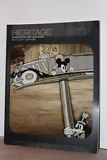 Heritage Animation Art Auction  (Mickey & Goofy Cvr) 2014 NY ~ WH