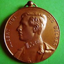 L@@k Monarchy King Albert of Belgium / Wreath 1927 Award Bronze Medal!