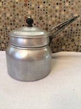 Vintage  WEAR EVER USA Aluminum Double Broiler Pan with Lid & Hanging Holes