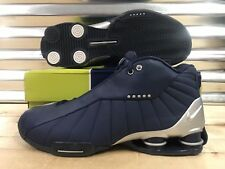 buy online b3789 045f1 Nike Shox BB4 iD 2005 OG Vince Carter Shoes Navy Blue Silver SZ 11 ( 302997