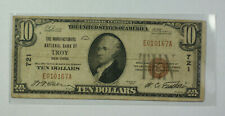 1929 $10 Bill National Currency Banknote Troy New York NY 721 (D)