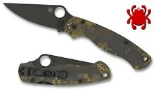 SPYDERCO KNIVES C81GPCMOBK2 PARA 2 MILITARY PLAIN EDGE CAMO KNIFE HANDLE USA