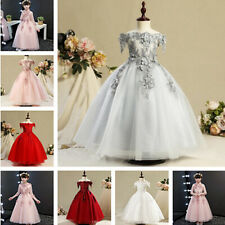 Flower Girl Dress Communion Party Prom Princess Pageant Bridesmaid Wedding Dress