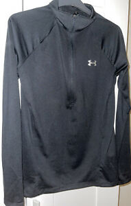 Womens Under Armour 1/2 Zip Long Sleeved Top - Size Small