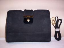 Borsa borsetta a spalla tracolla pochette Tre Les donna elegante pelle nera new