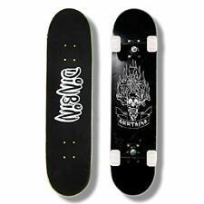 """Dinbin Skateboard - 31"""" x 8"""" Complete Pro Skateboard - Double (Hell messenger)"""