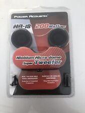 Power Acoustik NB-18 200 Watt Max Niobium Micro Dome Super Tweeter   - Free Ship