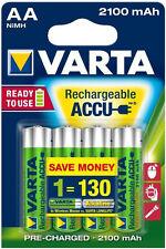 4x 56706 Varta AA batería Mignon rechargeable ready 2use 2100mah-nuevo embalaje original