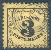 Baden, Porto Mi.-Nr.2xo, Nr.-Stempel 156 Weinheim, geprüft Thier, pracht