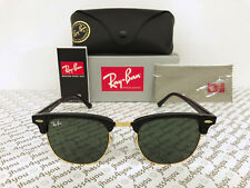 9378997c4a2 Ray-Ban Clubmaster Sunglasses RB3016 W0365 Black Frame G-15 Green Lens 51