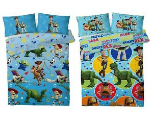 Toy Story 4 Single Double Bed Duvet Cover Set Lasso Reversible Kids Bedding Set