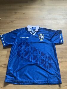 Brazil Away Football Shirt Large Umbro 1994 Authentic