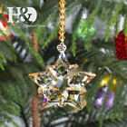 Hanging Champagne Pendant Annual 2020 Crystal Christmas Large Snowflake Ornament