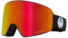 2020 Dragon PXV Snowboard Goggles in Black Frame w/Red Ion & Rose Lenses