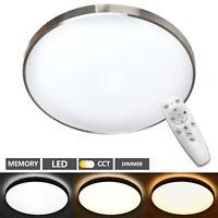 Deckenleuchte Wohnzimmer LED mit Fernbedienung 48W Deckenlampe Dimmbar
