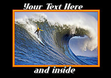 PERSONALISED SURFING WATER SPORT BIRTHDAY ANY OCCASION CARD Illustrated Insert