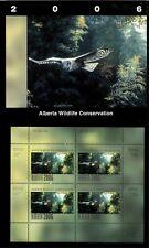 Alberta #11 2006 Grey Owl Conservation Stamp Mini Sheet Of 4 In Folder Nh