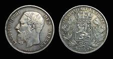 Belgique 5 Francs 1869 Léopold II - Argent 24.90 gr