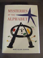 MYSTERIES OF THE ALPHABET BY MARC-ALAIN OUAKNIN 1ST EDITION 1999 HARDCOVER