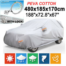 L SUV Full Car Cover PEVA Waterproof Anti Scratch Outdoor UV Rain Dust Protector