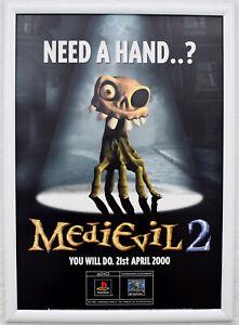 Medievil 2 RARE PS1 42cm x 59cm Promotional Poster