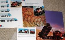1994 Sisu SR SM Tipper Truck Brochure - 6 pages - Finland - MINT