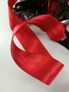 SUBARU IMPREZA GH WRX STI  FRONT SEAT BELTS SET - RED RETRACTORS