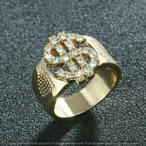 14K Yellow Gold Plated Marvallous Dollar Signed Engagement Ring 2.12Ct Diamond