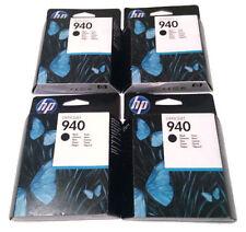 Job lot Genuine Original Hp 940 Black C4902AE Ink Cartridges Joblot Boxed x4 uk