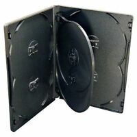 10 X 6-WAY NEW BLACK DVD CD DISC CASE 14mm SPINE REPLACEMENT SLEEVE