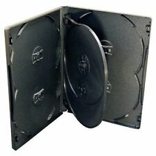 1 X 6-WAY NEW BLACK DVD CD DISC CASE 14mm SPINE REPLACEMENT SLEEVE