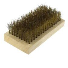 3.9 ZollLaenge Hardware Holzgriff Messing Draht Buerste Reinigung Werkzeug N7A2
