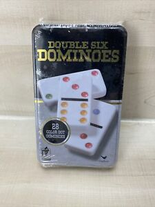 New Cardinal Classic Games - 28 Double Six Color Dot Dominoes